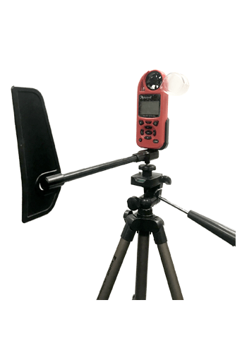 Kestrel 5100 weather station with tripod and vane mount