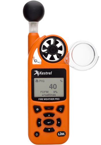 Kestrel 5400FW Fire Weather Meter Pro WBGT with LiNK Compass & Vane Mount